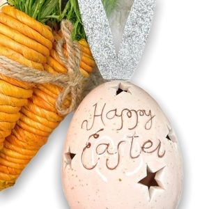 """""""Happy Easter"""" Egg with Bunny Ears"""